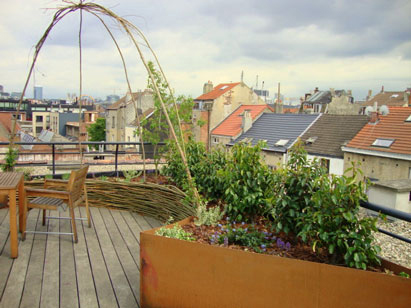 gazebo on roof top terrace